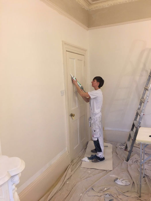 Edwardian period property door preparation