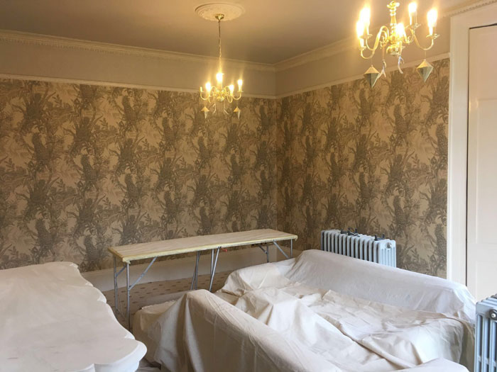 Edwardian period property wallpapering