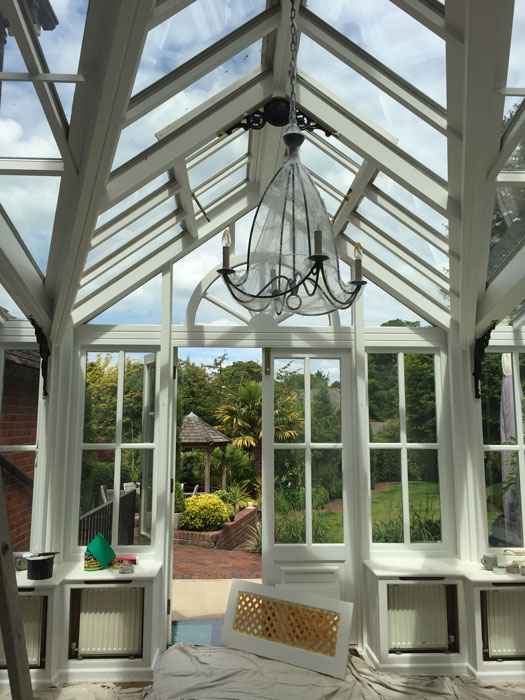 Painted Wooden Conservatory