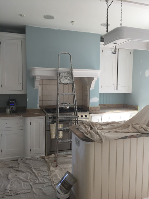 Hand Painted Kitchen in Progress