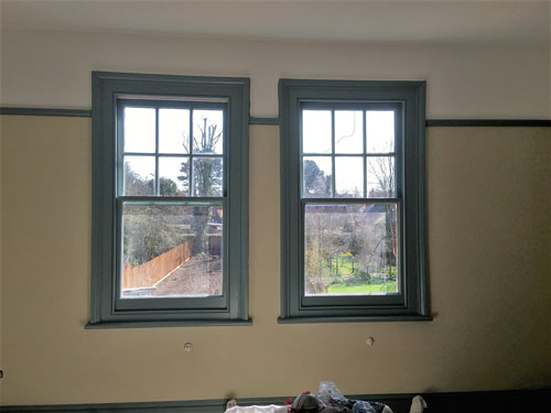 Edwardian restoration project windows after