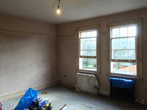 Edwardian restoration project windows before