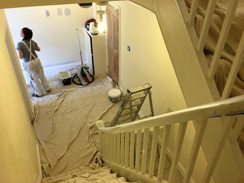changing rooms effect - house renovation